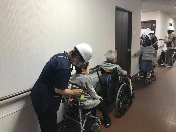 【富士山松岡ガーデン】避難訓練を行いました