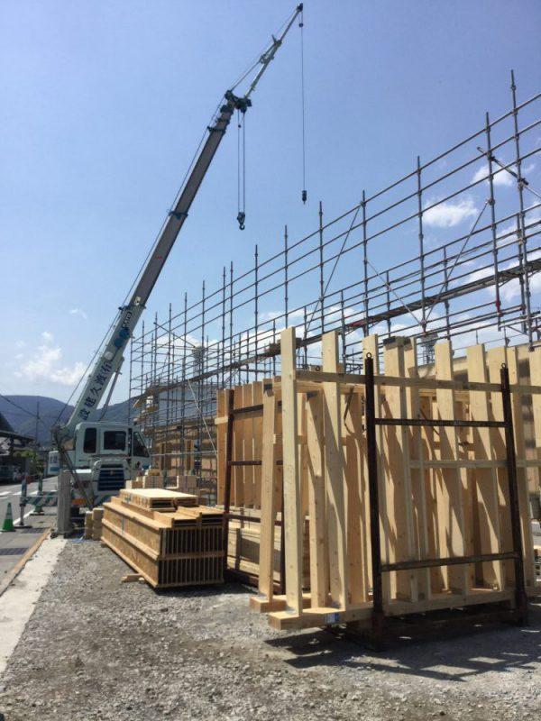 富士山松岡ガーデンの建設状況(5/11時点)