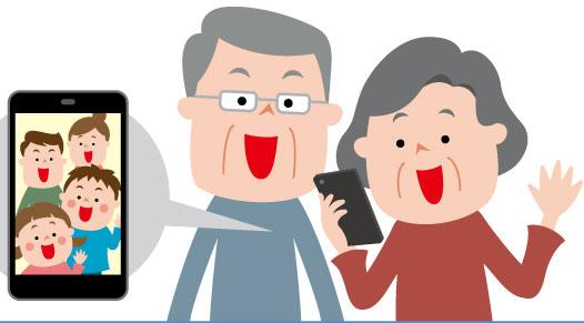 老人ホームのビデオ通話