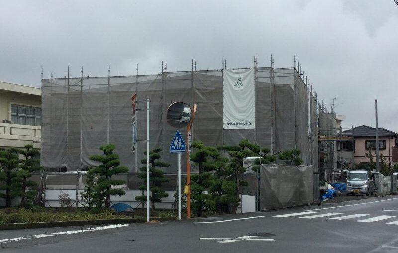 富士山松岡ガーデンの建築状況(6/8時点)