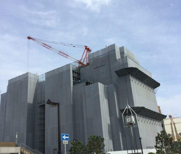 富士駅前の介護付き有料老人ホーム、富士山するがテラスの建設状況(5/11時点)